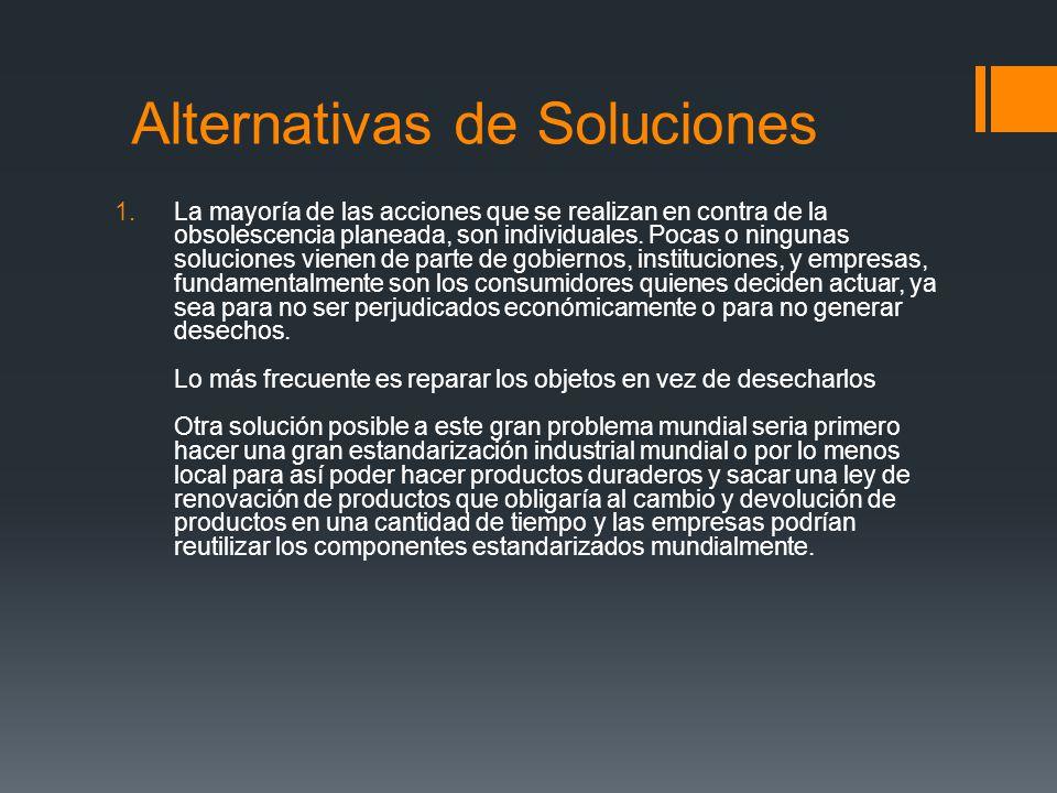 Alternativas de Soluciones