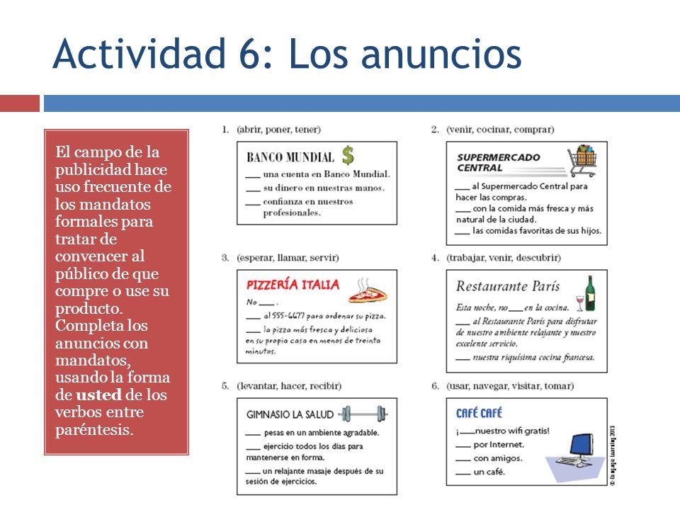 Actividad 6: Los anuncios