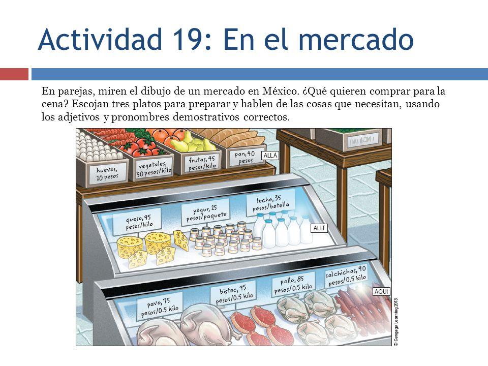 Actividad 19: En el mercado