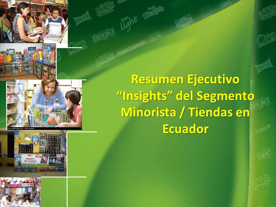 Insights del Segmento Minorista / Tiendas en Ecuador