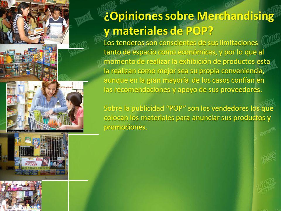 ¿Opiniones sobre Merchandising y materiales de POP