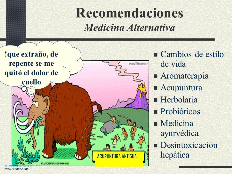 Recomendaciones Medicina Alternativa