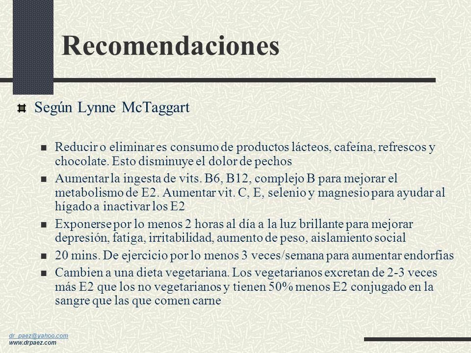 Recomendaciones Según Lynne McTaggart