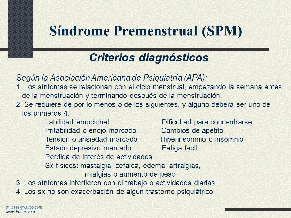 Síndrome Premenstrual (SPM)