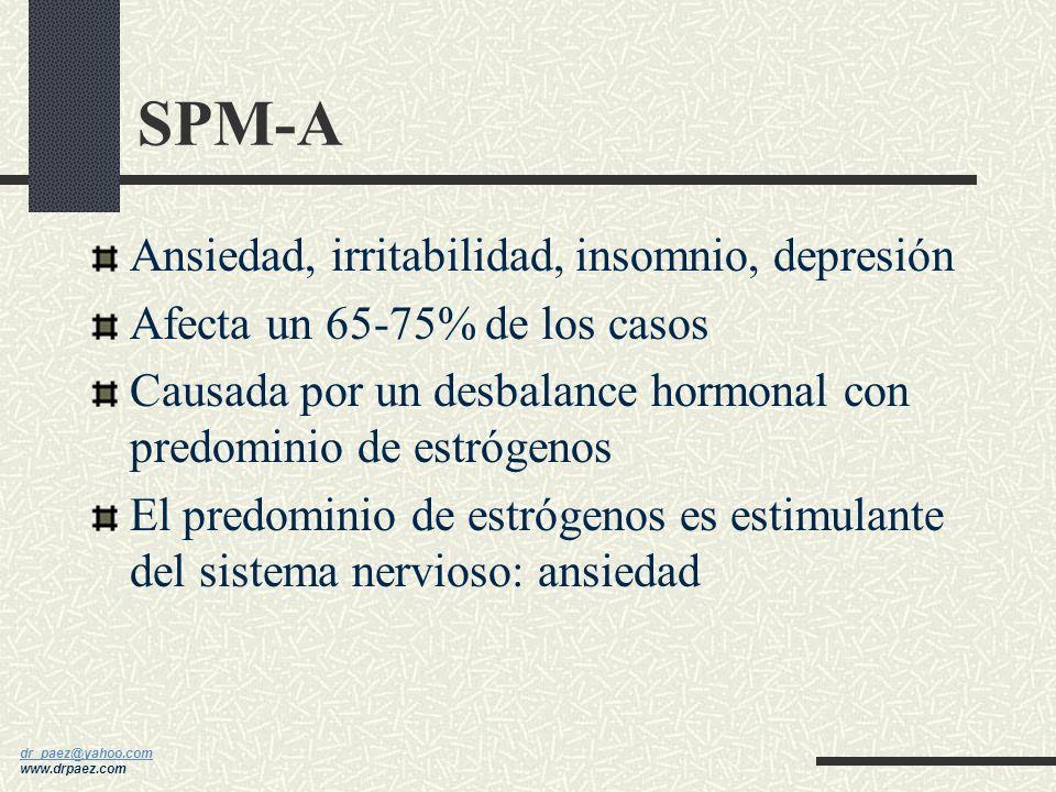 SPM-A Ansiedad, irritabilidad, insomnio, depresión