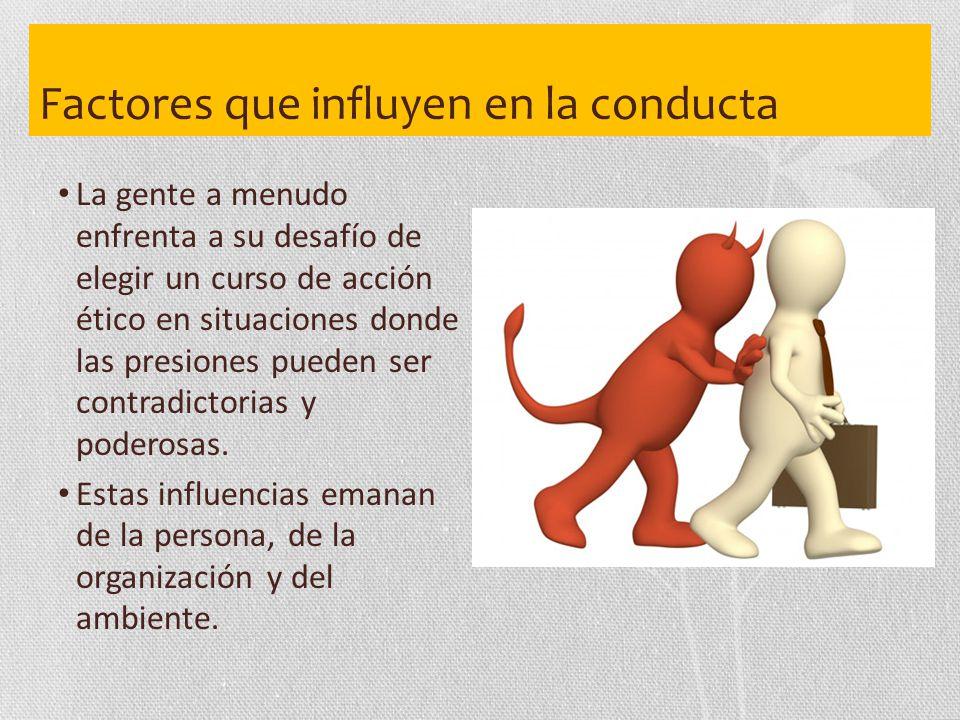 Factores que influyen en la conducta