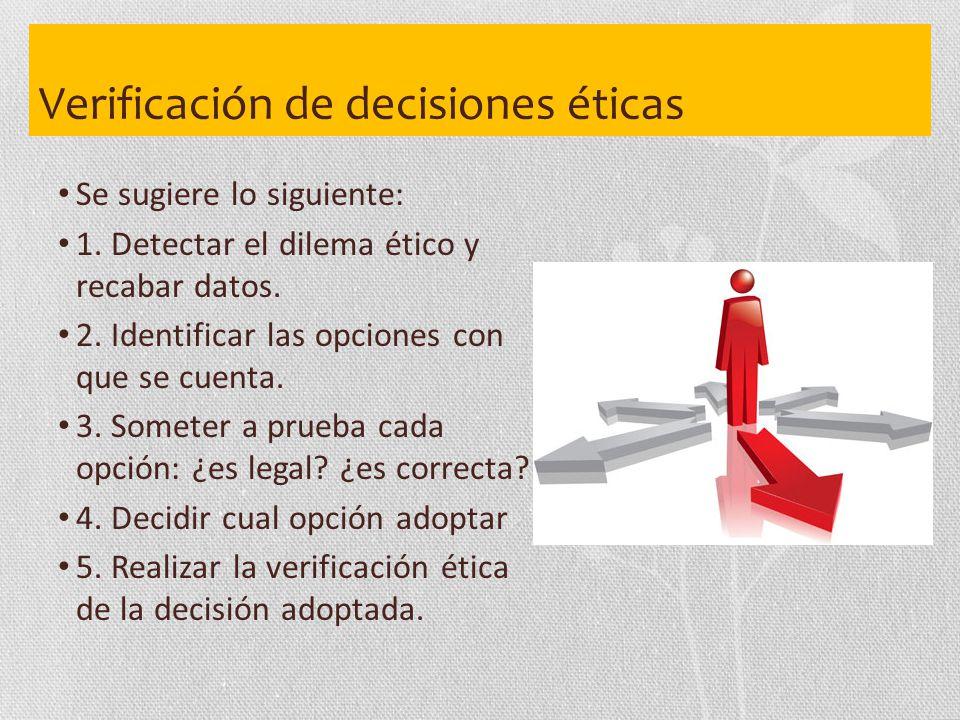 Verificación de decisiones éticas