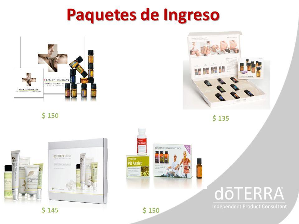 Paquetes de Ingreso $ 150 $ 135 $ 145 $ 150