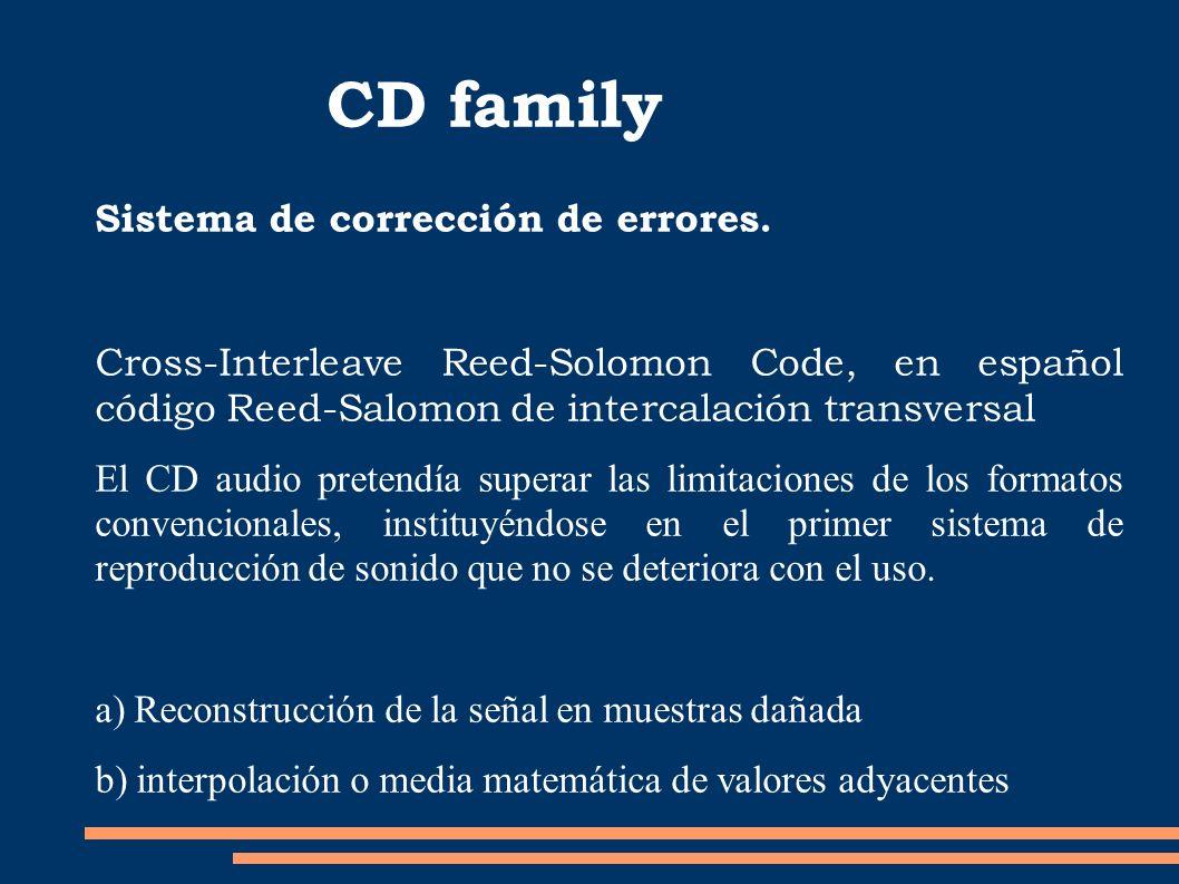 CD family Sistema de corrección de errores.
