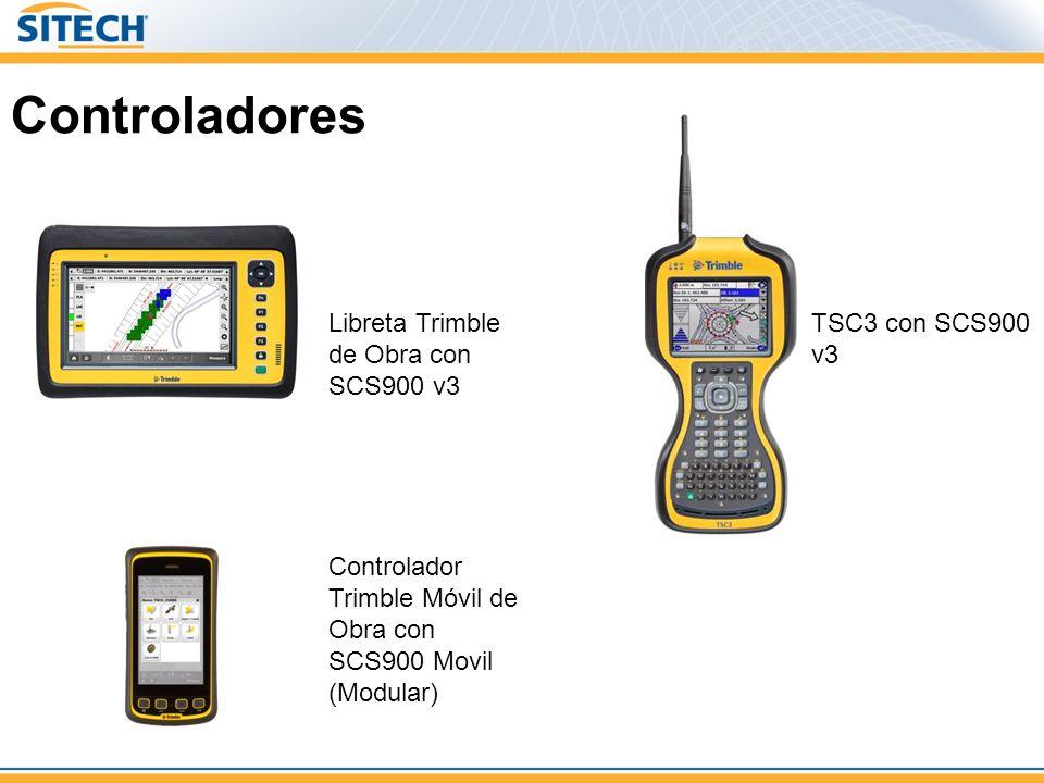 Controladores Libreta Trimble de Obra con SCS900 v3 TSC3 con SCS900 v3