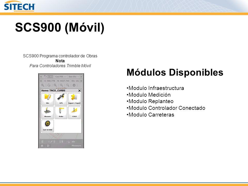 SCS900 (Móvil) Módulos Disponibles Modulo Infraestructura