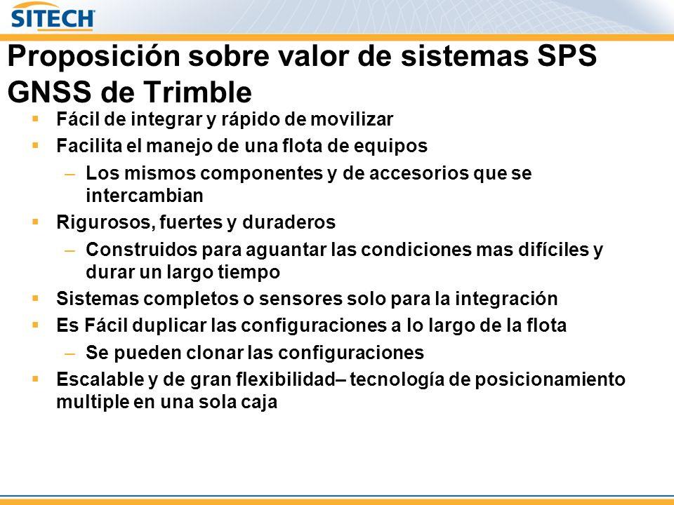 Proposición sobre valor de sistemas SPS GNSS de Trimble