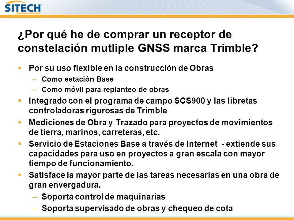¿Por qué he de comprar un receptor de constelación mutliple GNSS marca Trimble