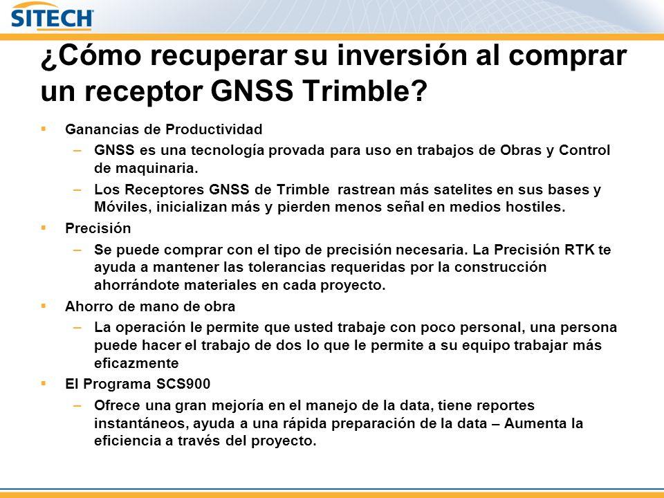 ¿Cómo recuperar su inversión al comprar un receptor GNSS Trimble