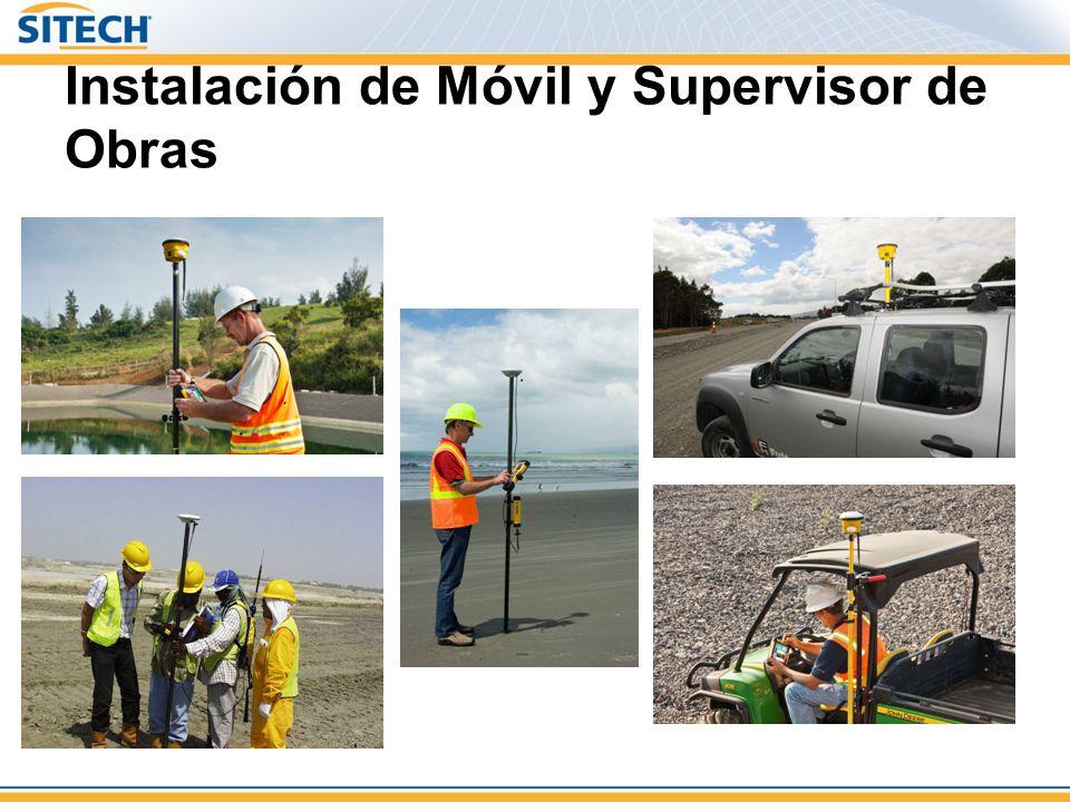 Instalación de Móvil y Supervisor de Obras