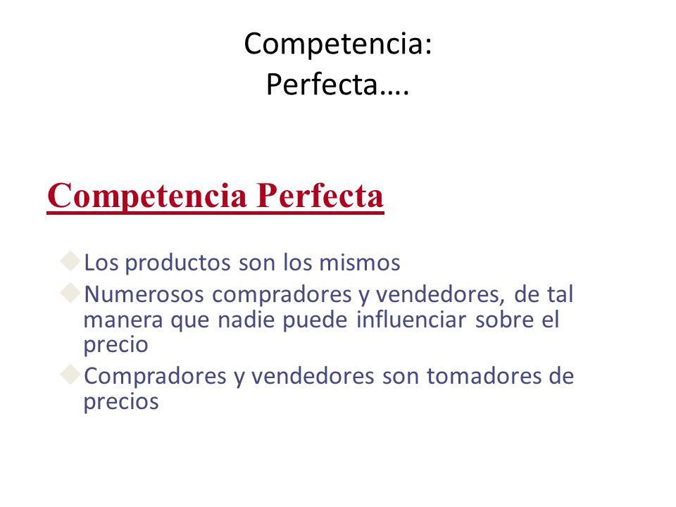Competencia: Perfecta….