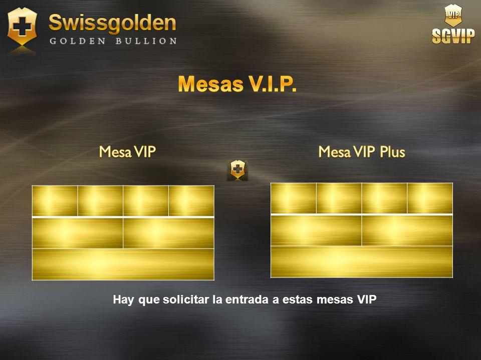 Mesas V.I.P. Mesa VIP Mesa VIP Plus
