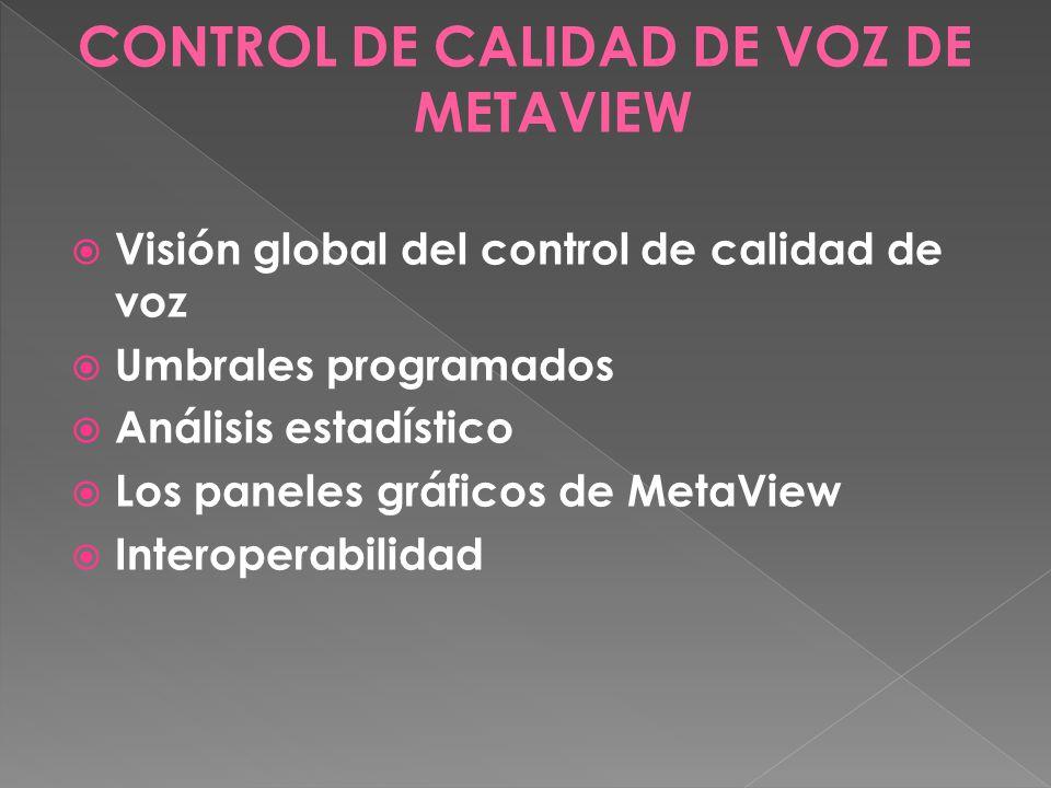 CONTROL DE CALIDAD DE VOZ DE METAVIEW