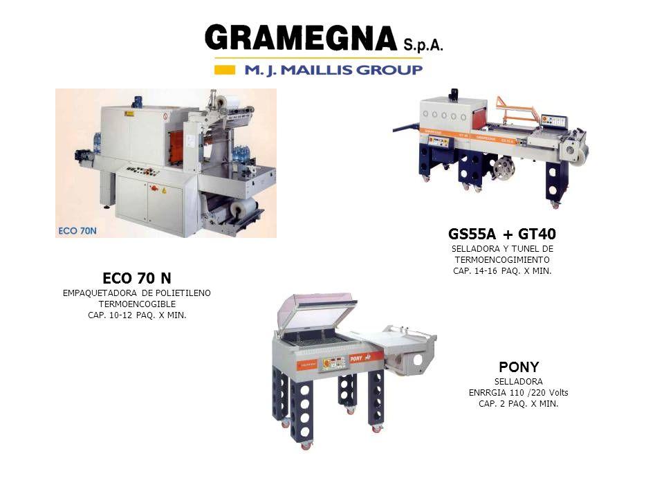 GS55A + GT40 ECO 70 N PONY SELLADORA Y TUNEL DE TERMOENCOGIMIENTO