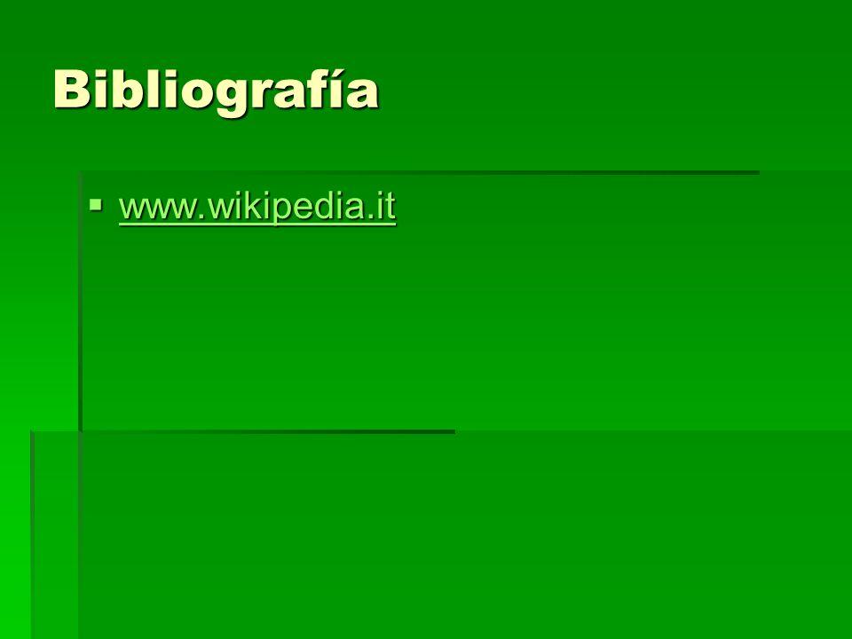 Bibliografía www.wikipedia.it