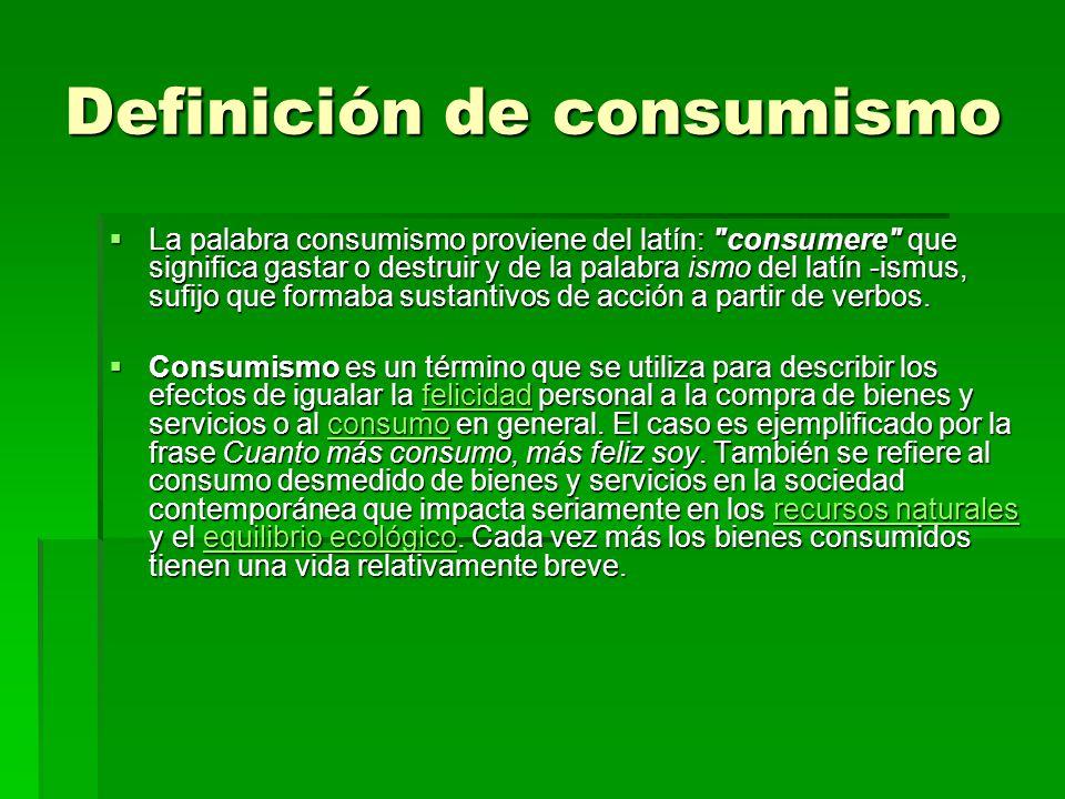 Definición de consumismo