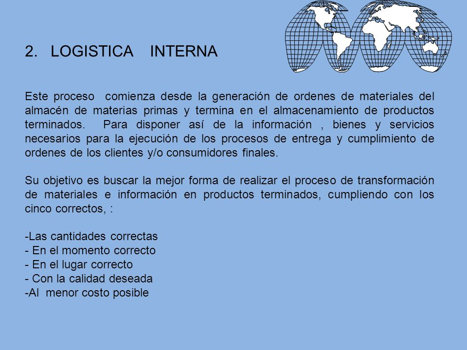 2. LOGISTICA INTERNA