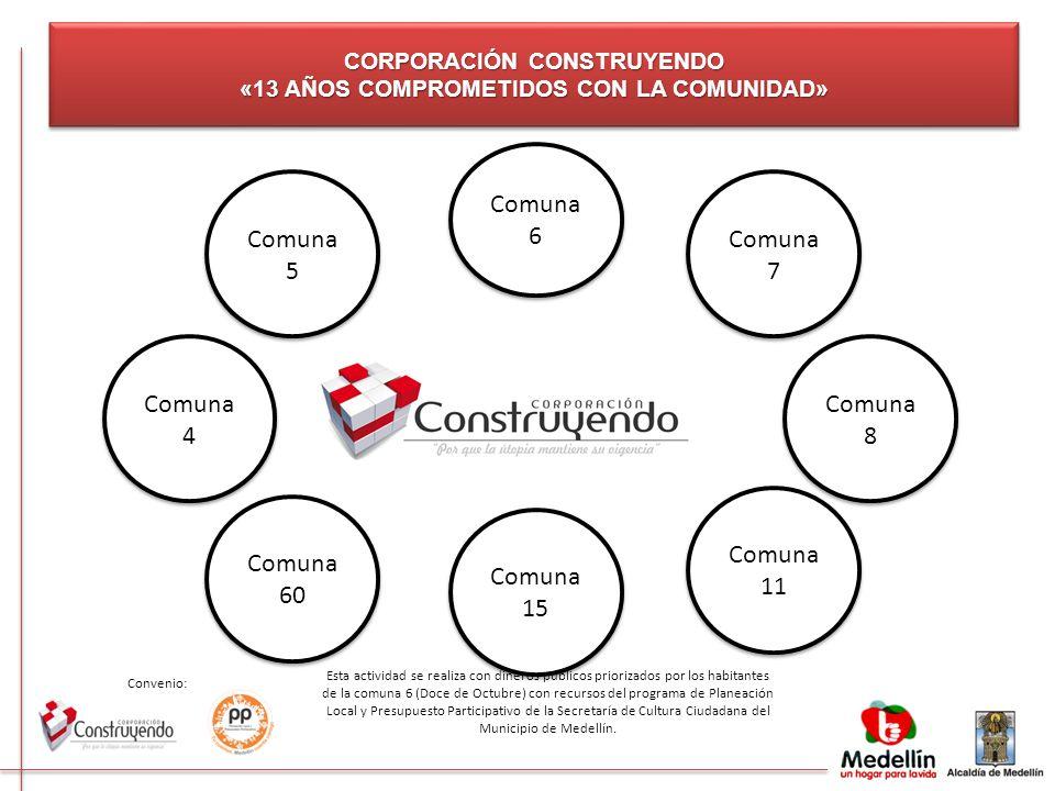 CORPORACIÓN CONSTRUYENDO «13 AÑOS COMPROMETIDOS CON LA COMUNIDAD»