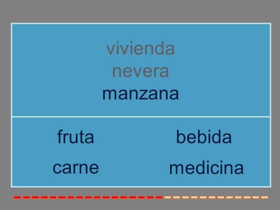 vivienda nevera manzana fruta bebida carne medicina