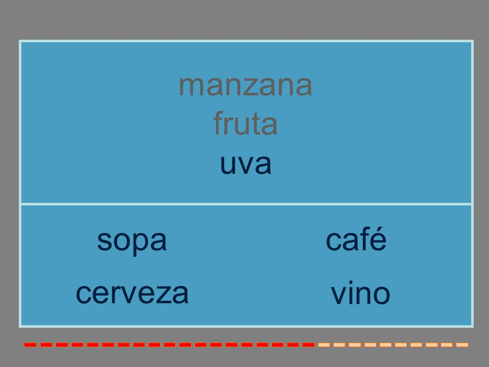 manzana fruta uva sopa café cerveza vino