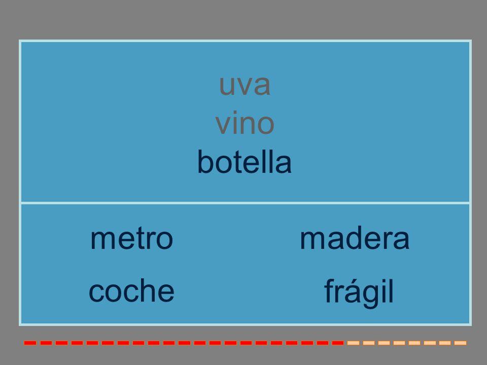 uva vino botella metro madera coche frágil