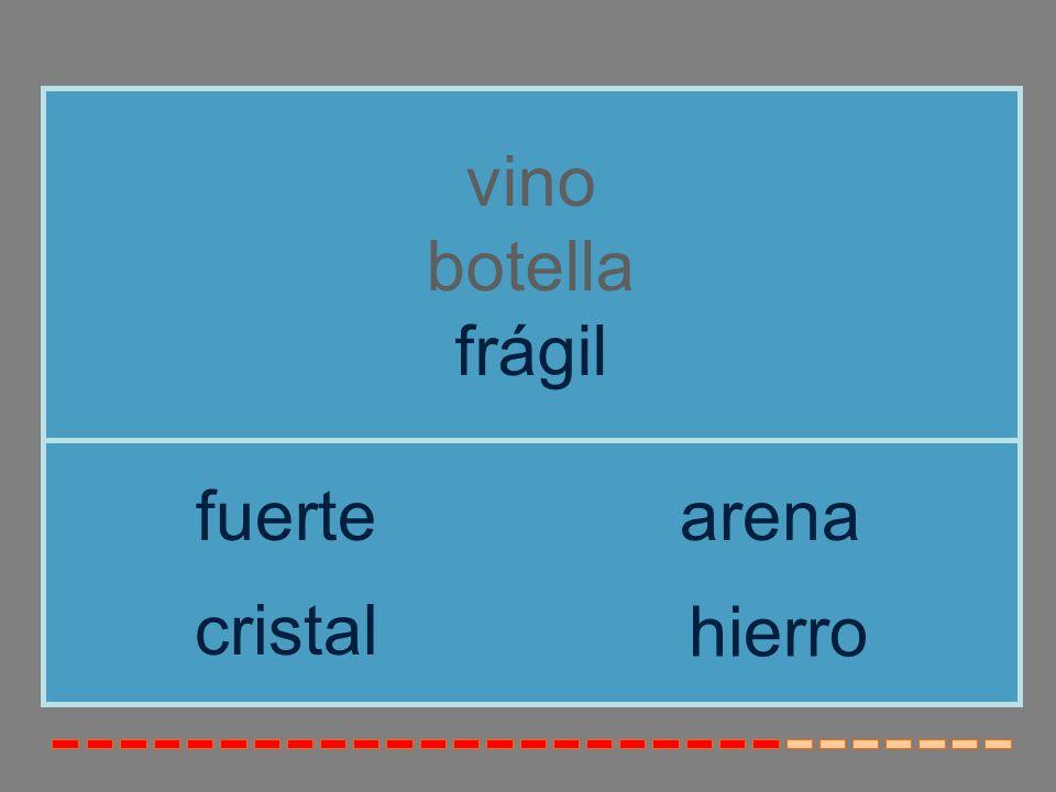 vino botella frágil fuerte arena cristal hierro