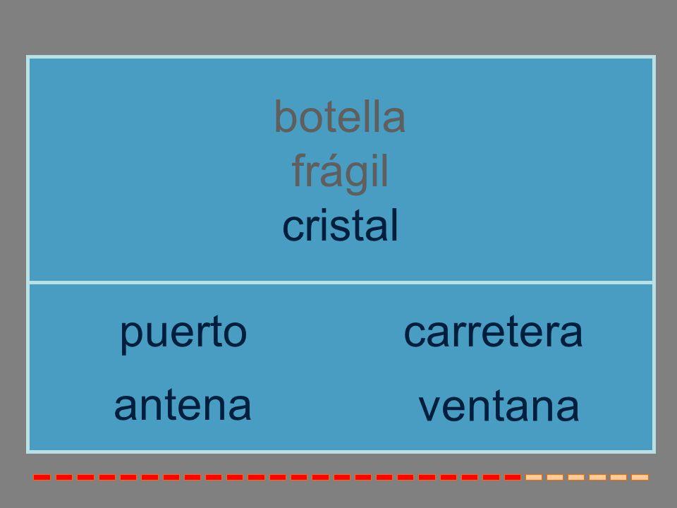 botella frágil cristal puerto carretera antena ventana