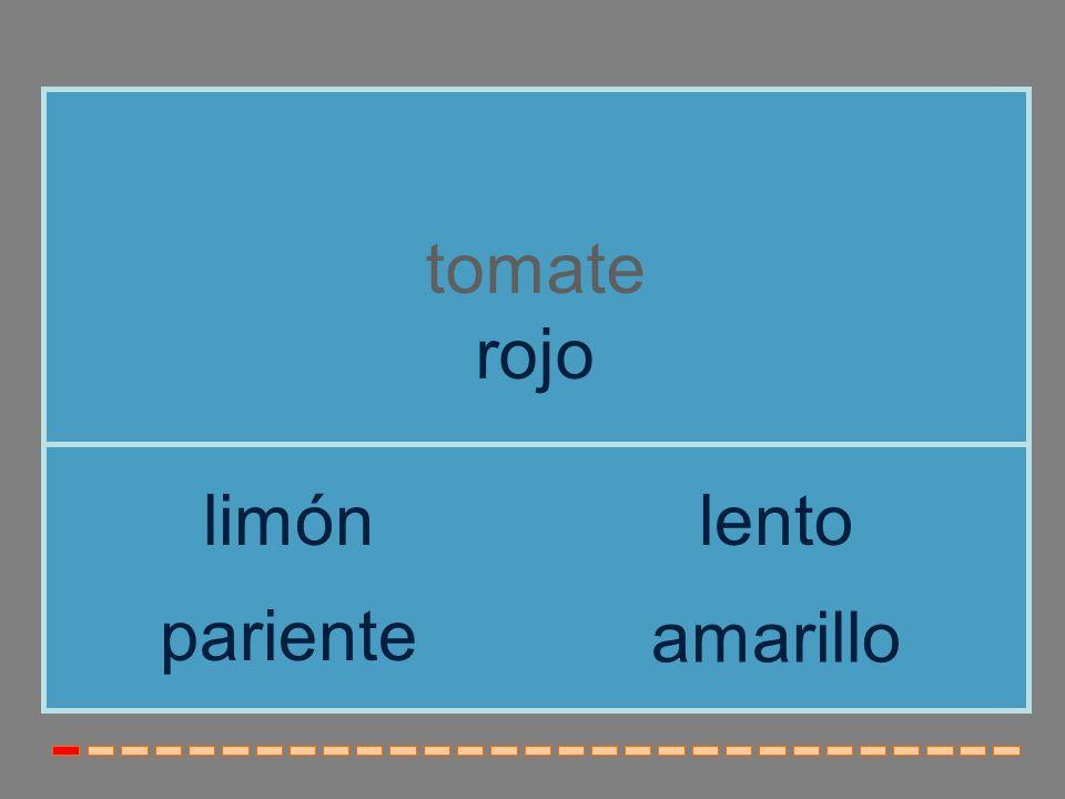 tomate rojo limón lento pariente amarillo