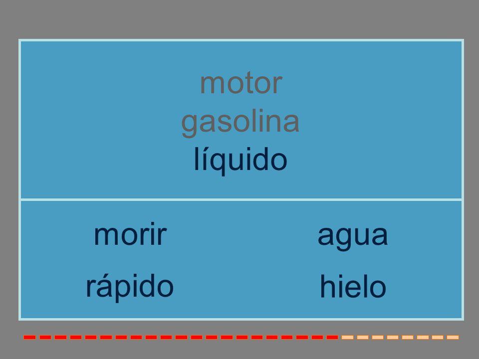 motor gasolina líquido morir agua rápido hielo