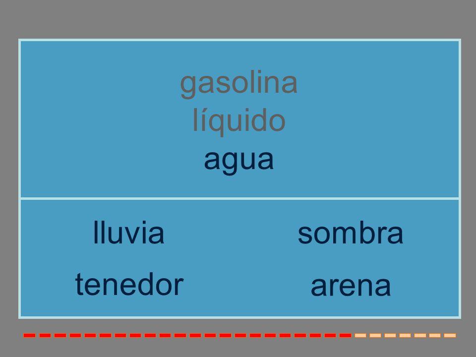 gasolina líquido agua lluvia sombra tenedor arena