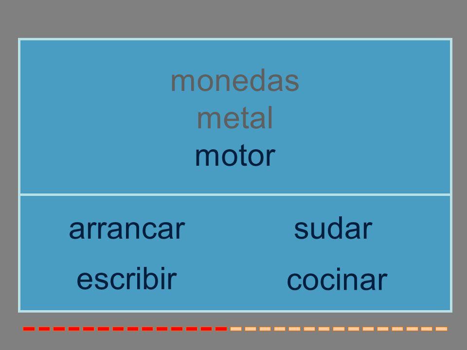 monedas metal motor arrancar sudar escribir cocinar