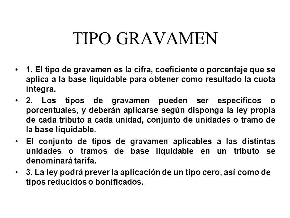 TIPO GRAVAMEN