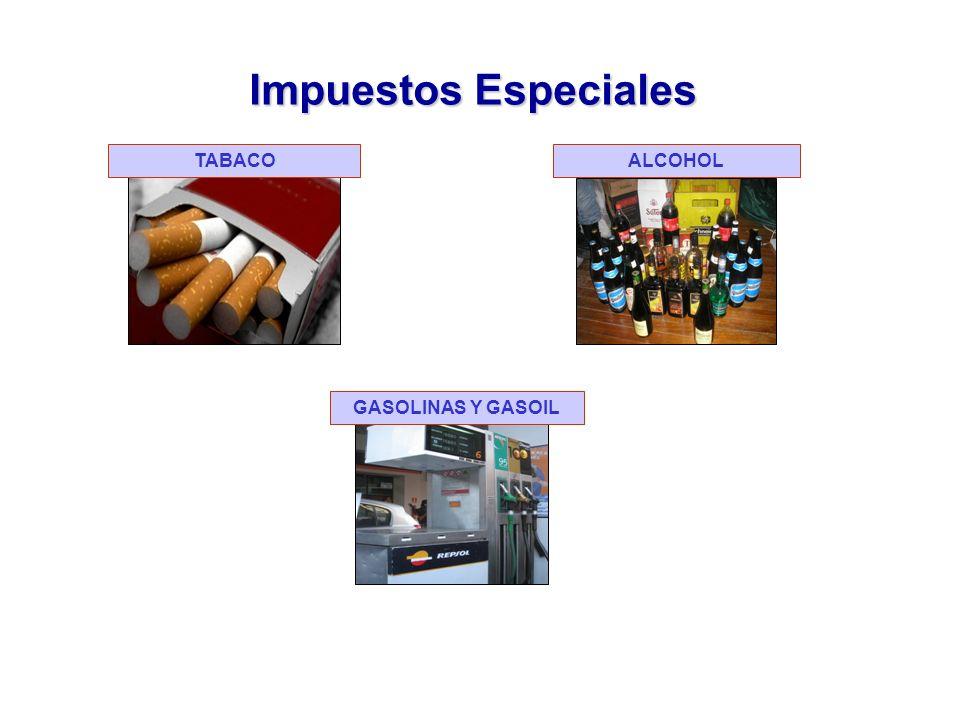 Impuestos Especiales TABACO ALCOHOL GASOLINAS Y GASOIL