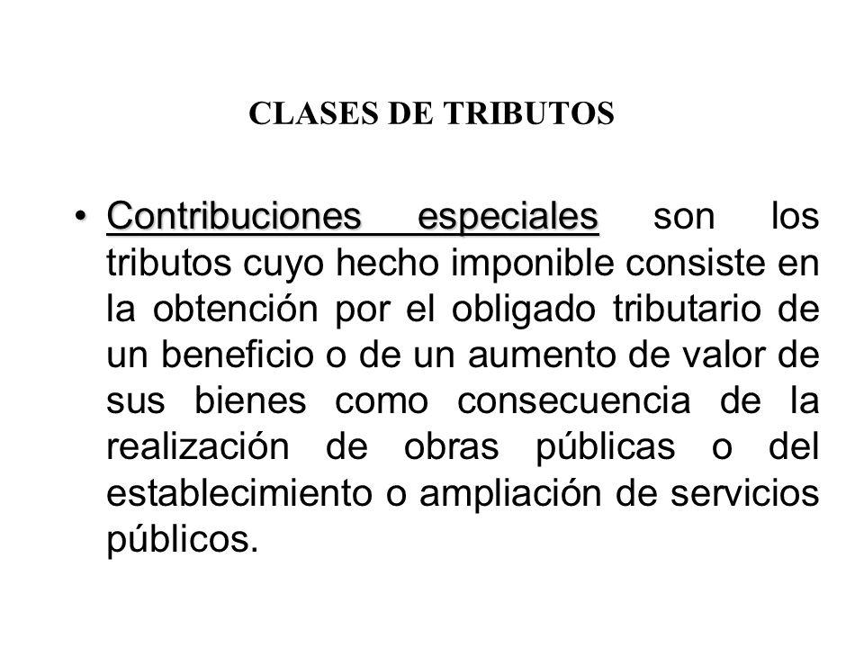 CLASES DE TRIBUTOS