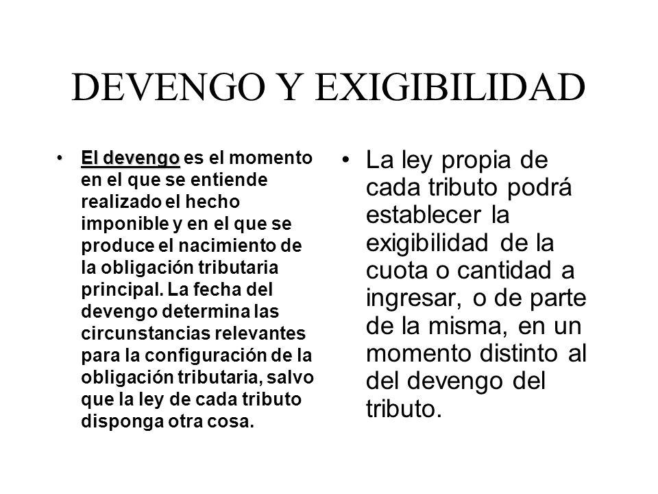 DEVENGO Y EXIGIBILIDAD
