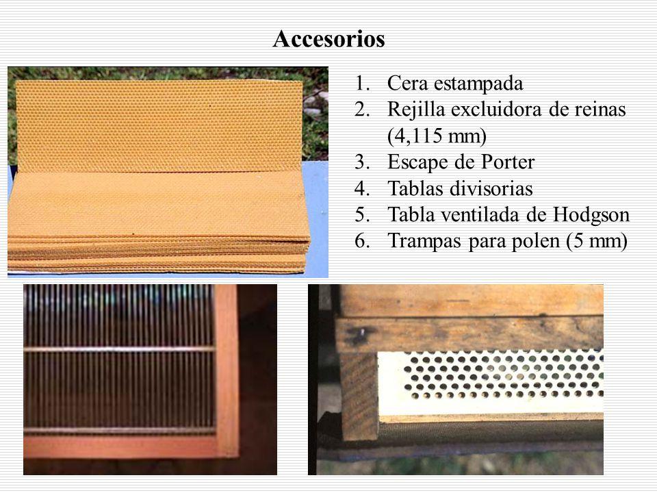 Accesorios Cera estampada Rejilla excluidora de reinas (4,115 mm)