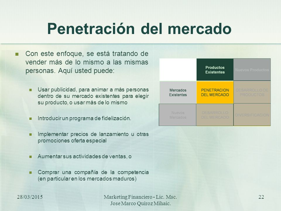 Penetración del mercado