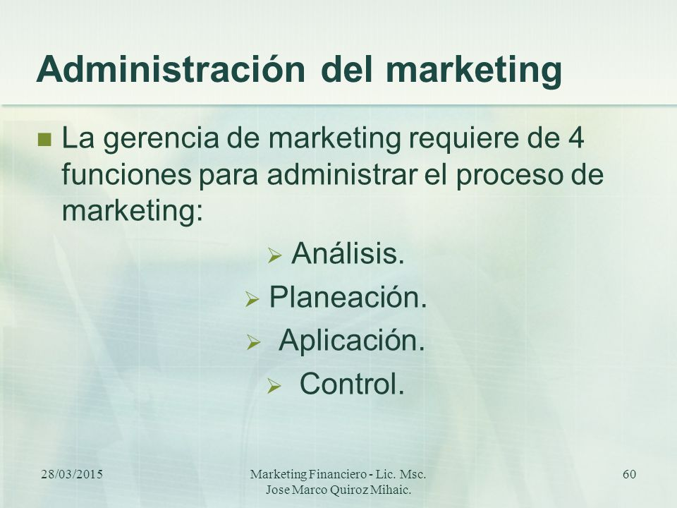 Administración del marketing
