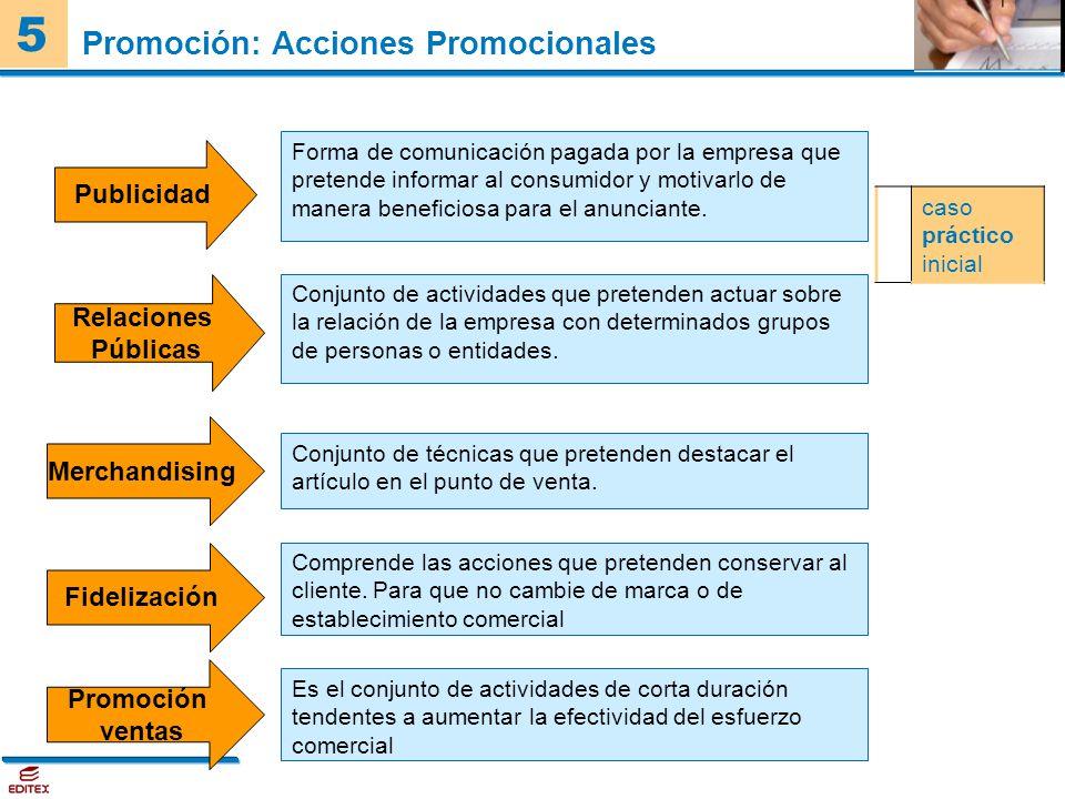Promoción: Acciones Promocionales