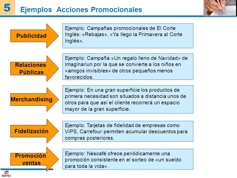 Ejemplos Acciones Promocionales