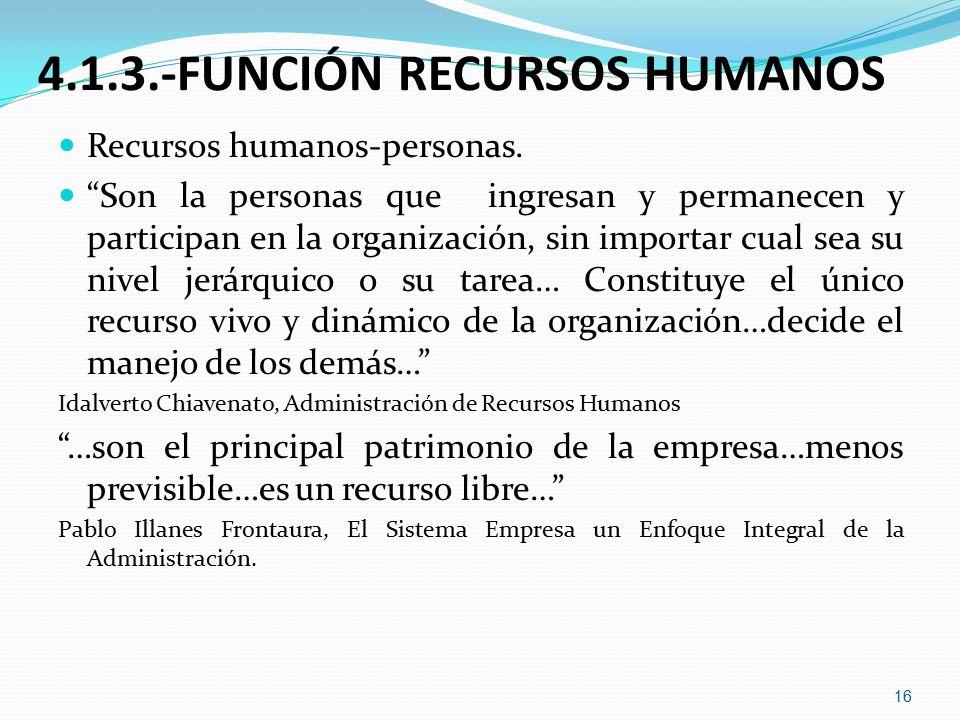 4.1.3.-FUNCIÓN RECURSOS HUMANOS