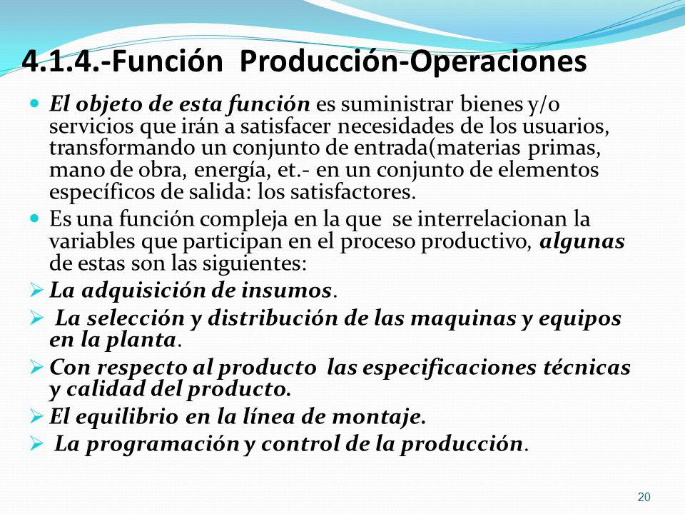 4.1.4.-Función Producción-Operaciones