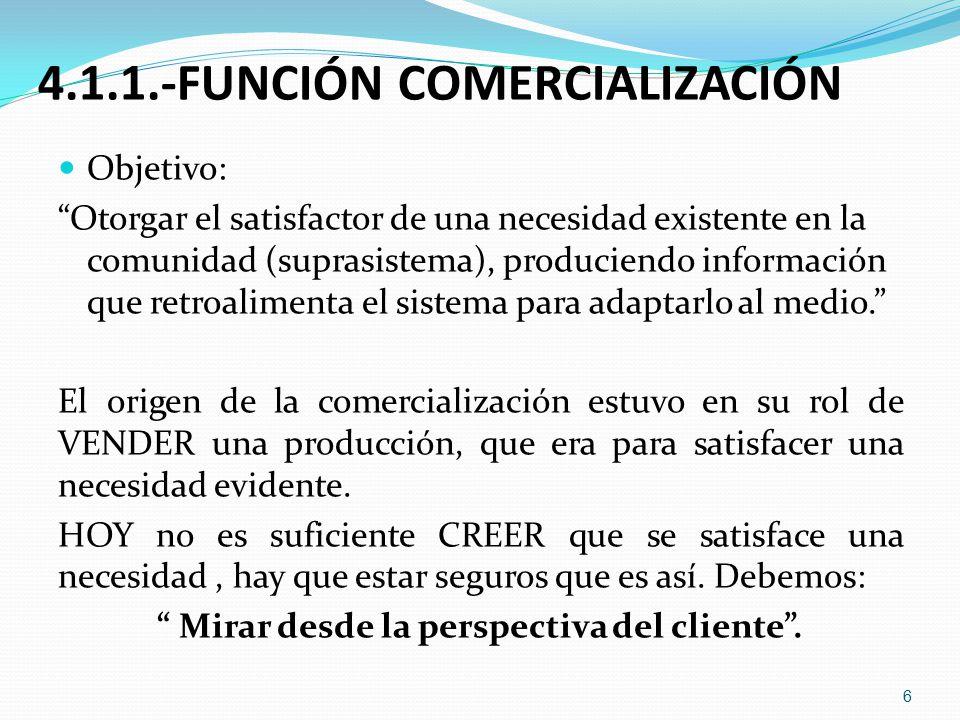 4.1.1.-FUNCIÓN COMERCIALIZACIÓN