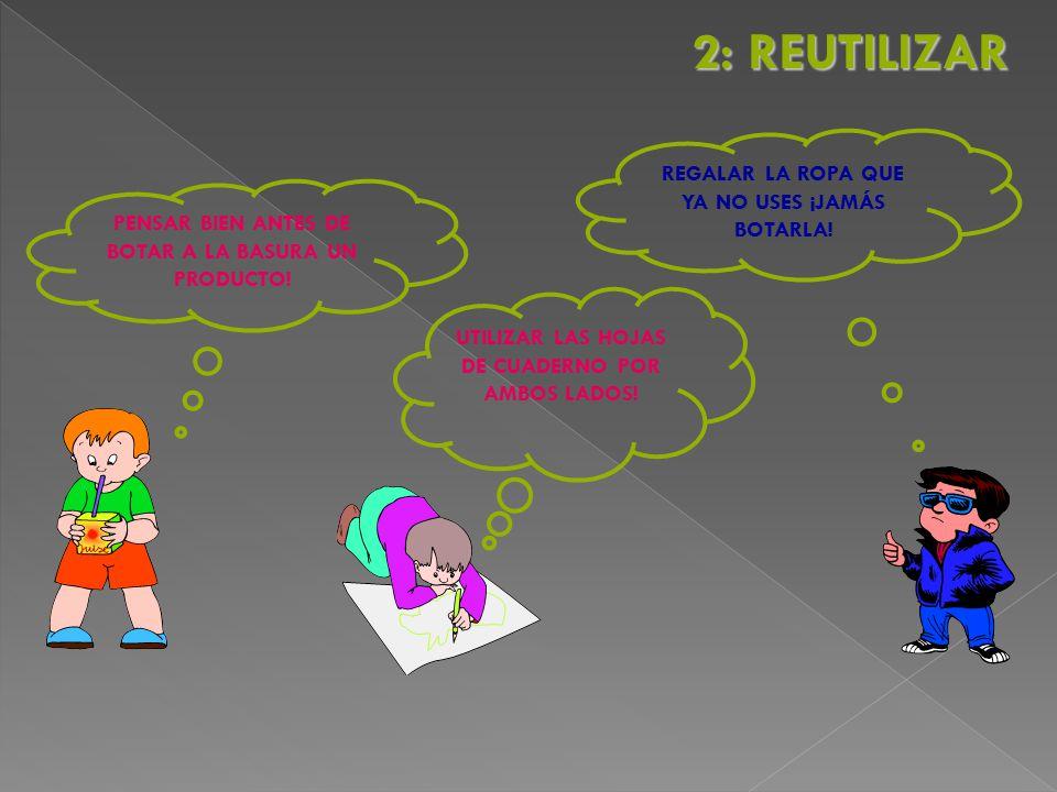 2: REUTILIZAR REGALAR LA ROPA QUE YA NO USES ¡JAMÁS BOTARLA!