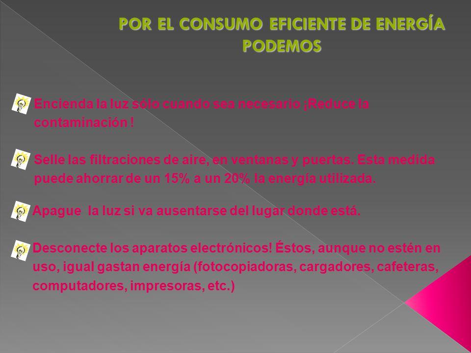 POR EL CONSUMO EFICIENTE DE ENERGÍA PODEMOS